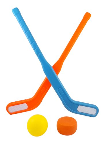 Face Off Dual Hockey Sticks Sports Set for Kids Puck ...